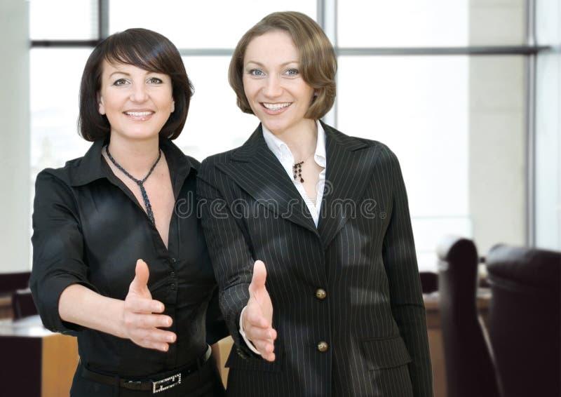 企业客户机你好办公室 图库摄影