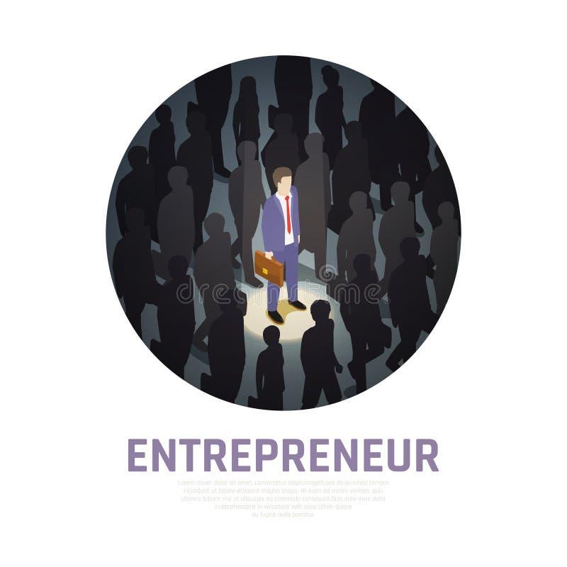 企业家概念等量构成 皇族释放例证