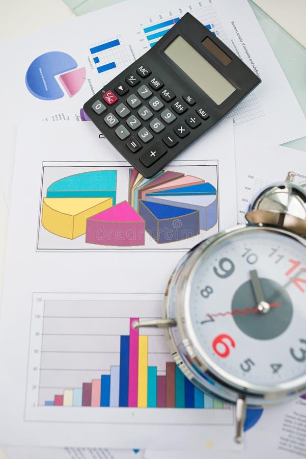 企业对象和纸张 库存图片