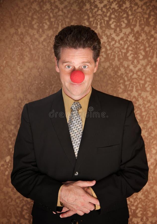 企业小丑 免版税库存图片
