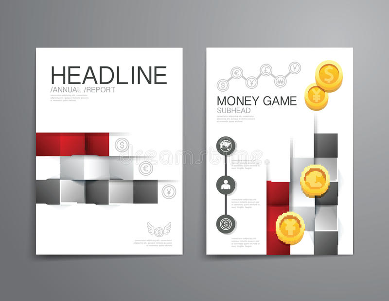企业小册子,飞行物,杂志封面设计模板传染媒介 向量例证