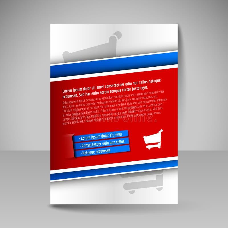 企业小册子 magazi设计盖子的编辑可能的A4海报  向量例证