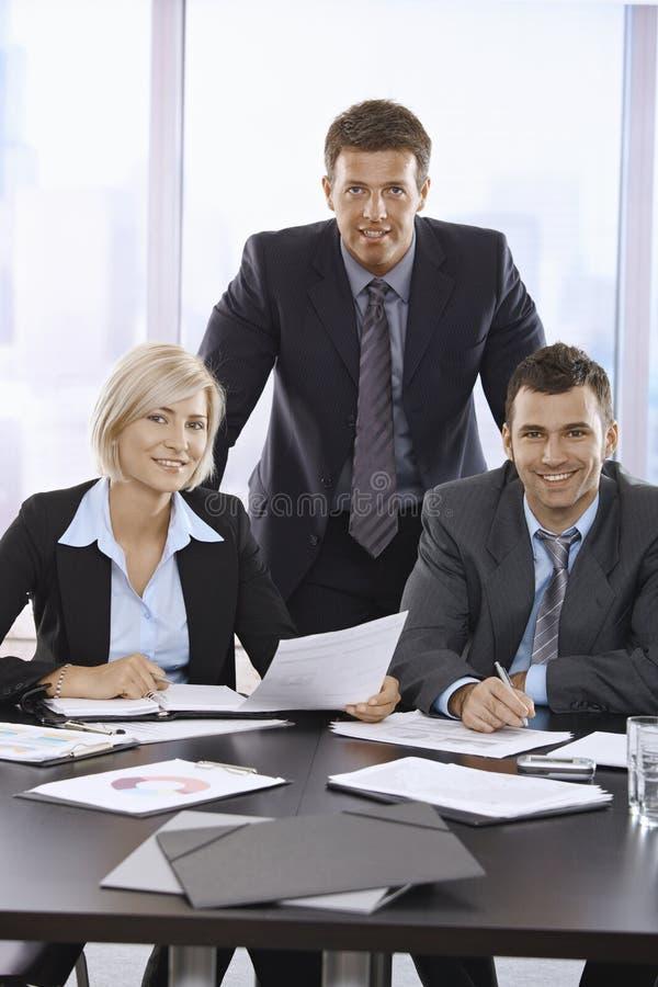 企业小组纵向 免版税库存图片