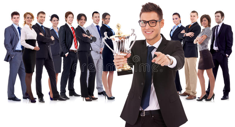 企业小组赢取 免版税图库摄影