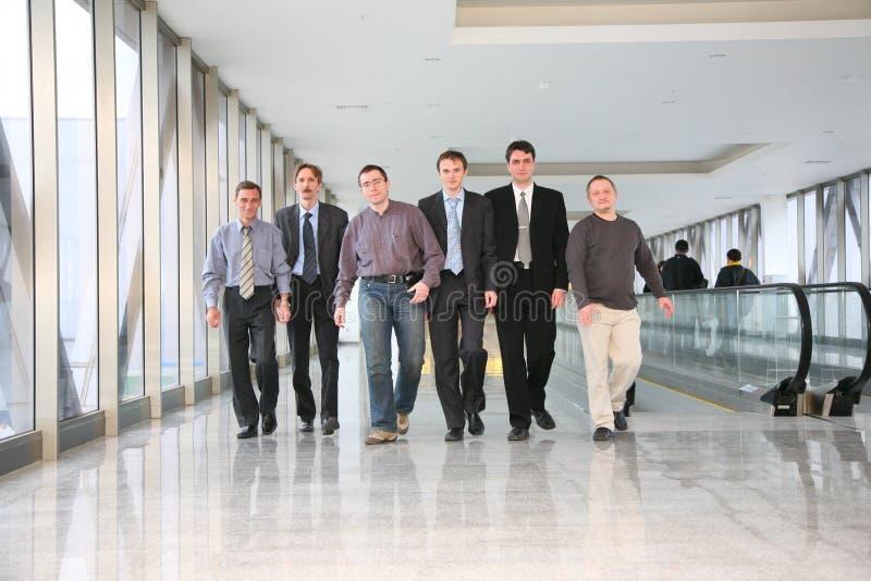 企业小组走 免版税库存图片