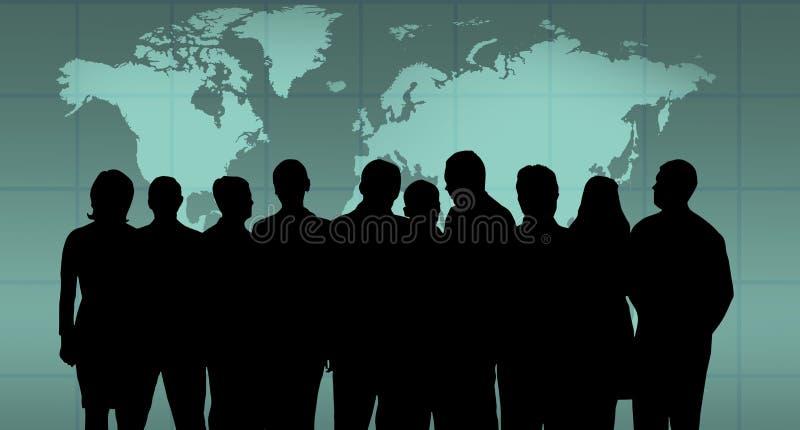 企业小组 库存例证