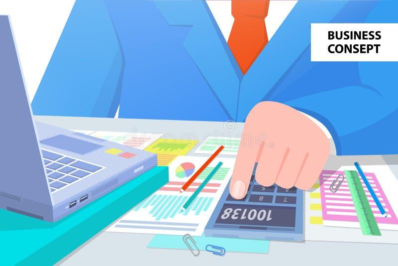 企业工作传染媒介例证的概念人 向量例证
