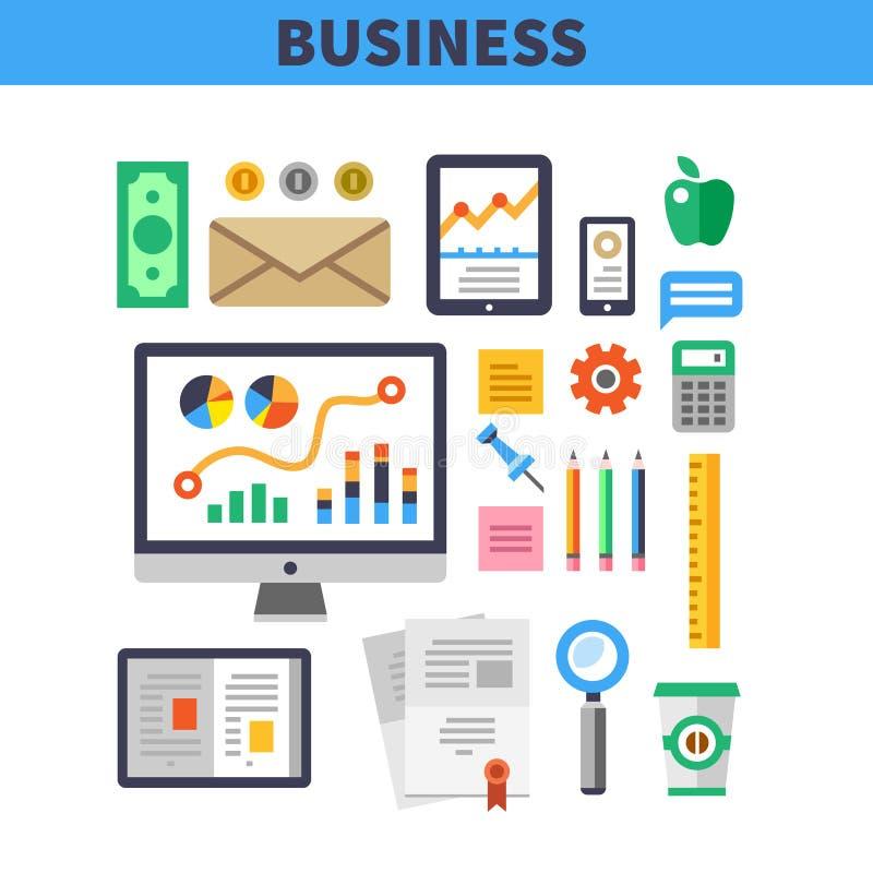企业工作元素 库存例证