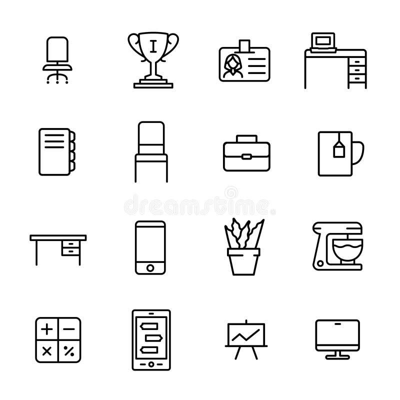 企业工作区的简单的收藏关系了线象 库存例证