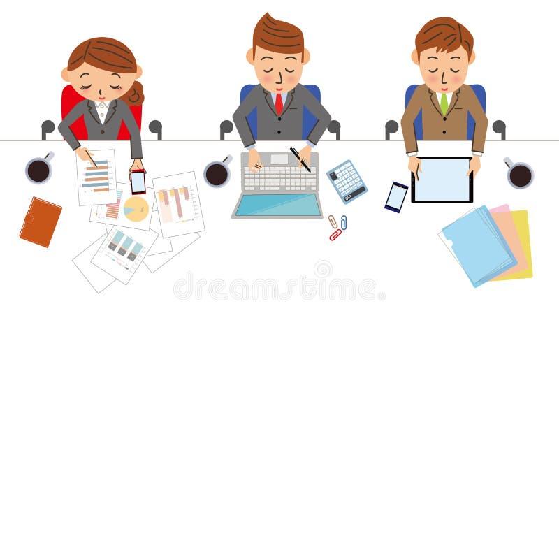 企业工作场面 库存例证