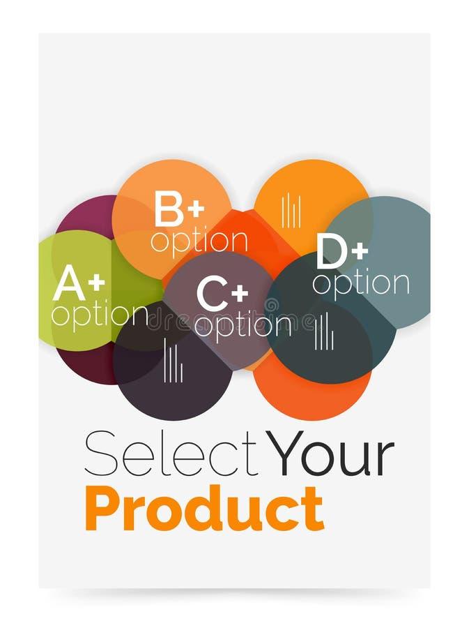 企业布局-选择您的与样品选择的产品 向量例证