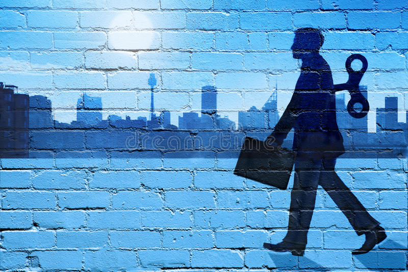 企业平衡工作生活 向量例证