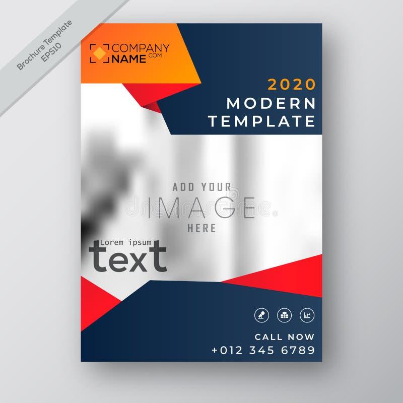 企业年终报告小册子飞行物设计模板传染媒介,现代出版物海报杂志,在A4大小,储蓄传染媒介的布局 皇族释放例证