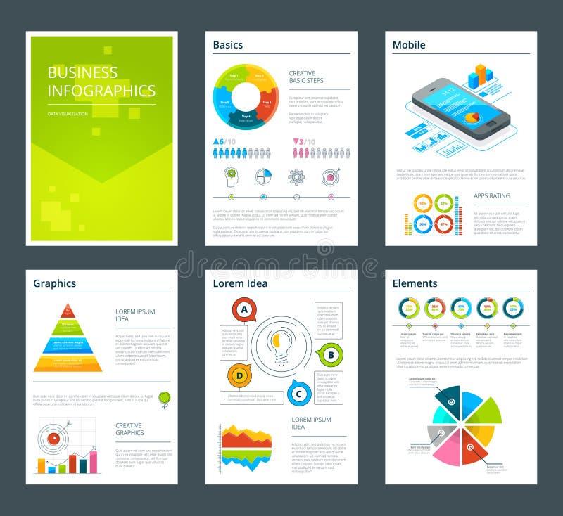企业年终报告设计模板  传染媒介小册子 库存例证