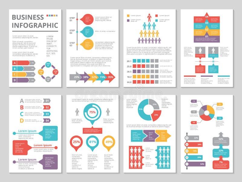 企业年终报告设计项目与infographic图片的 皇族释放例证