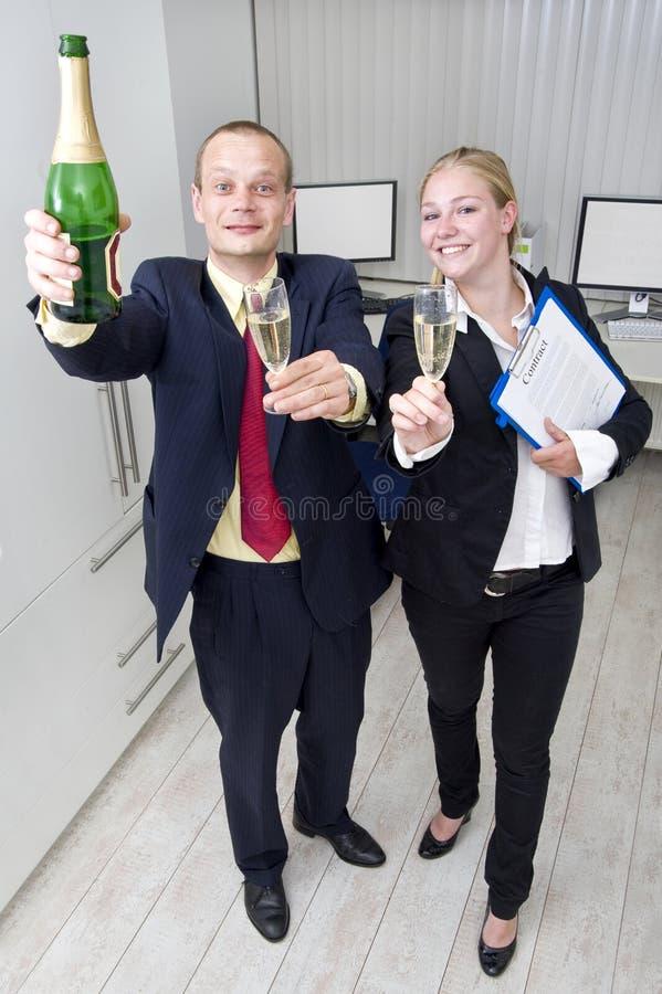 企业庆祝 免版税库存图片
