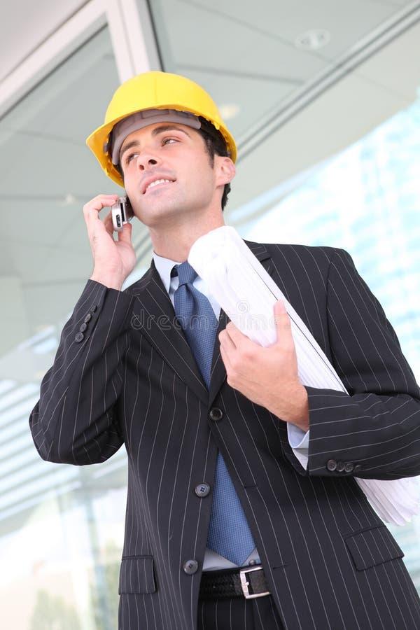 企业建筑人 免版税库存照片