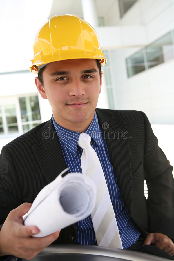 企业建筑人 免版税库存图片