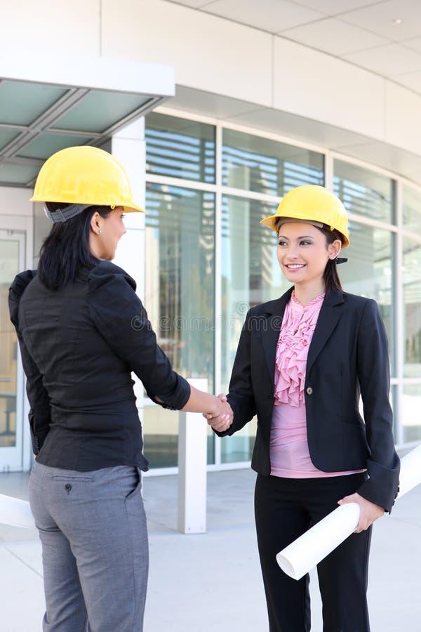 企业建筑信号交换妇女 免版税库存照片