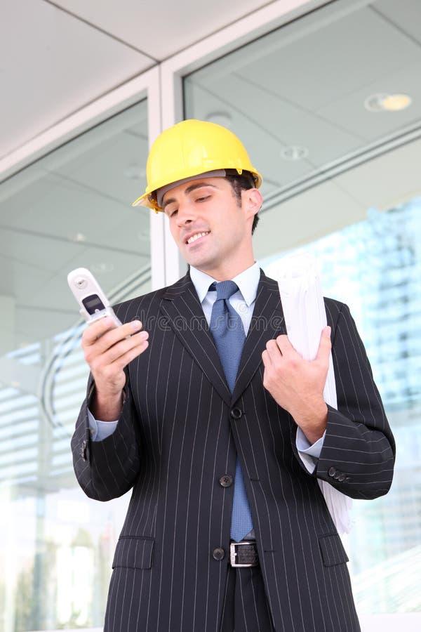 企业建筑英俊的人 免版税库存图片