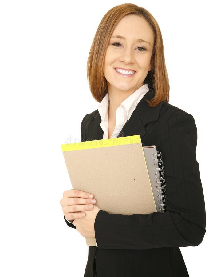企业微笑常设妇女 免版税库存照片