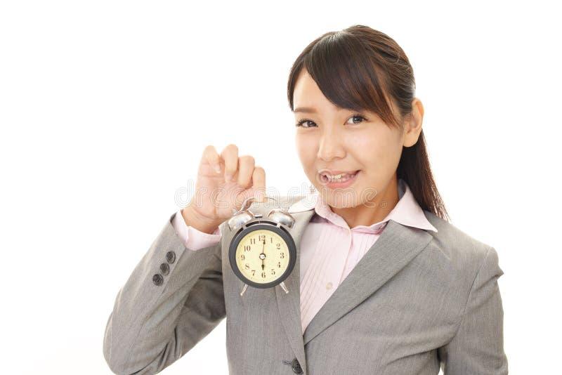 企业微笑的妇女 免版税库存图片