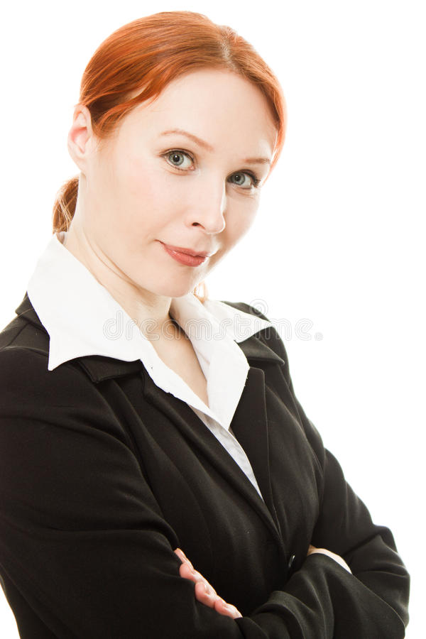 企业微笑的妇女 图库摄影
