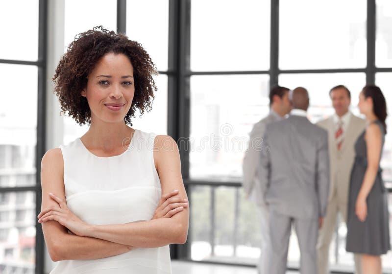 企业微笑的小组妇女 库存照片