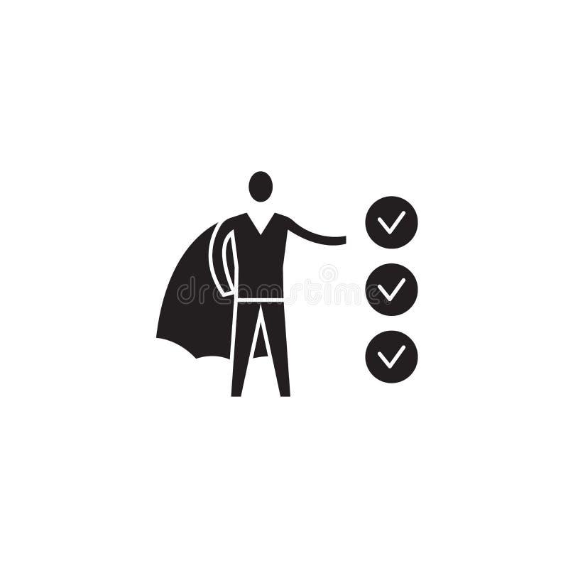 企业志向黑传染媒介概念象 企业志向平的例证,标志 向量例证