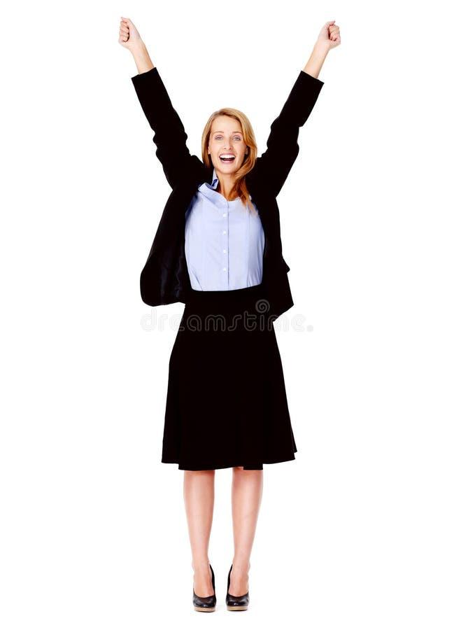 企业快乐的妇女 免版税库存图片