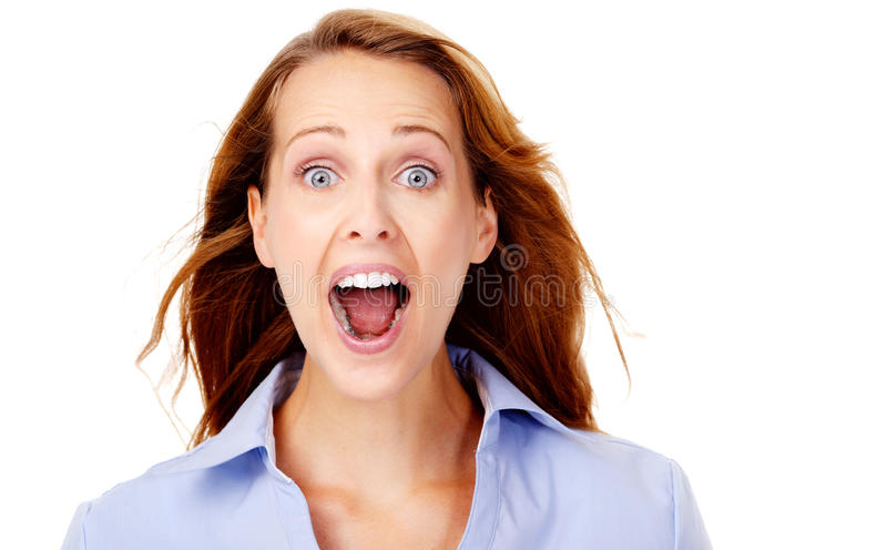 企业快乐的妇女 免版税图库摄影