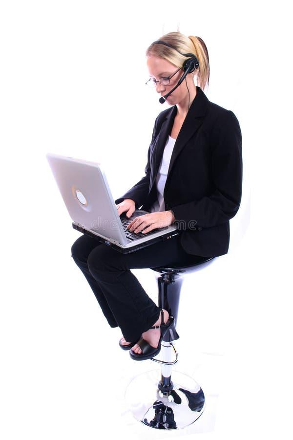 企业总公司spoksewoman妇女 免版税库存照片