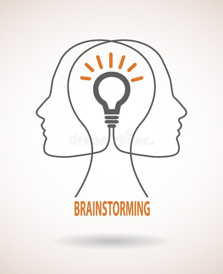 企业想法和激发灵感infographics的概念 皇族释放例证