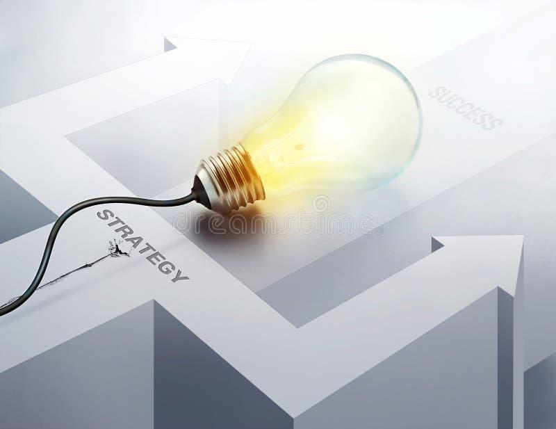 企业想法成功的启发概念电灯泡 皇族释放例证