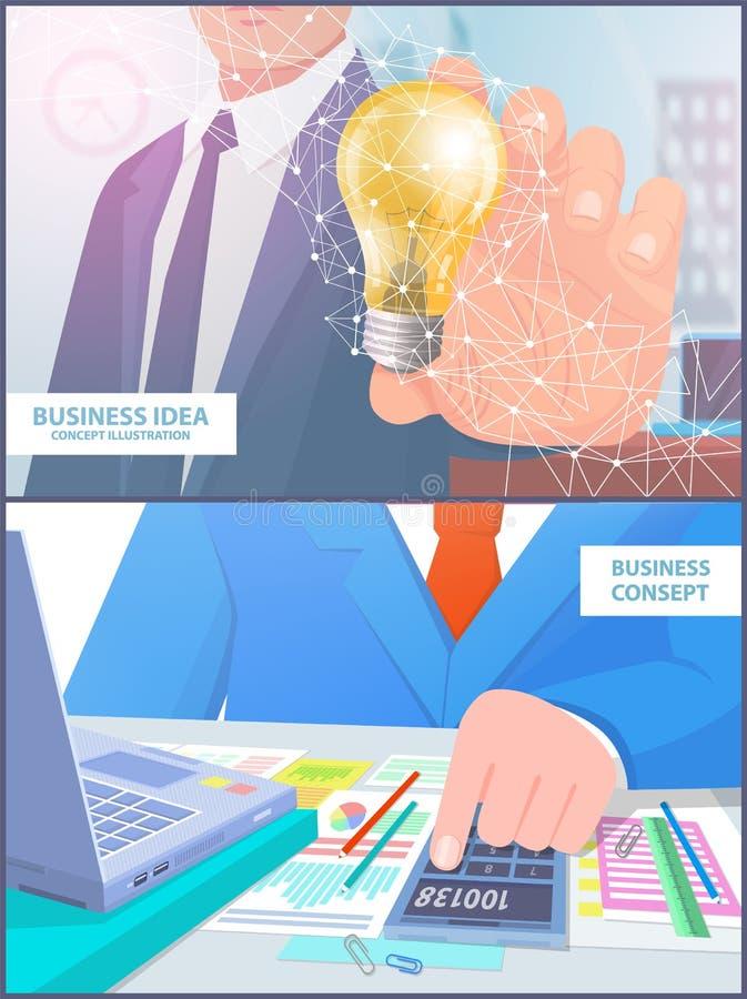 企业想法概念例证分析传染媒介 库存例证