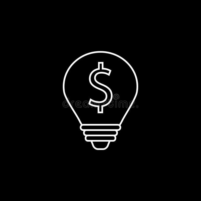 企业想法线象、财务和事务 库存例证