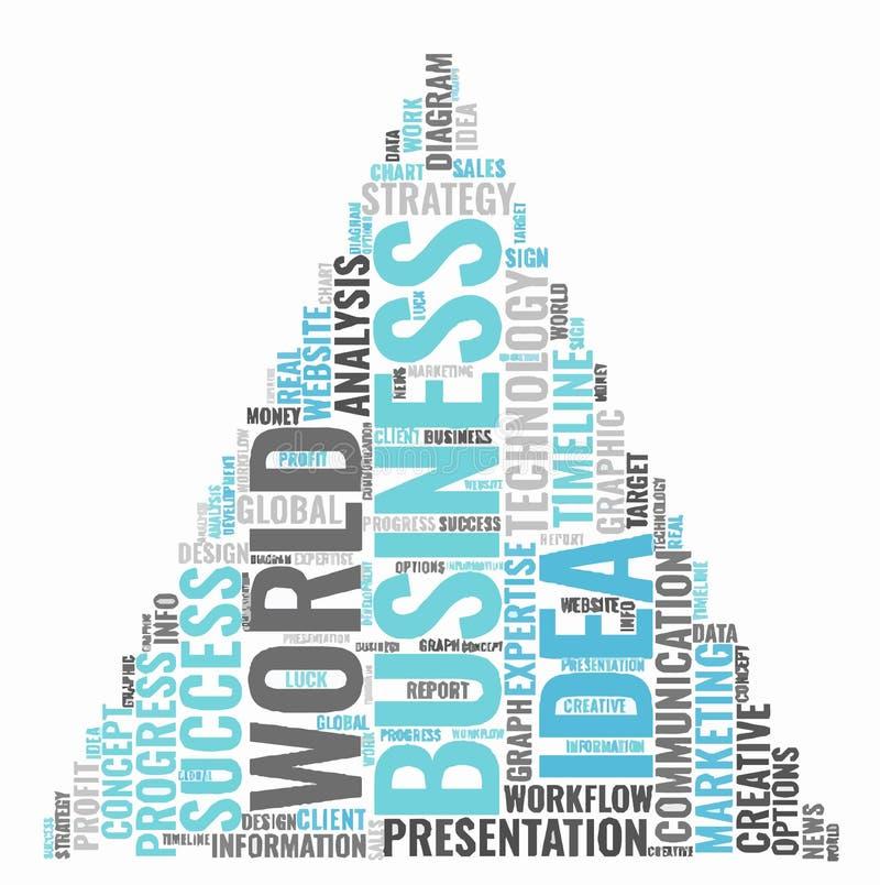 企业想法词云彩概念 印刷术 皇族释放例证