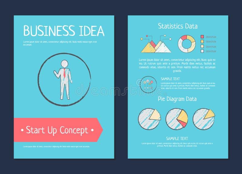 企业想法起始的概念传染媒介例证 向量例证