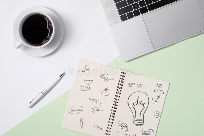 企业想法,创造性,启发和开始概念, i 免版税库存照片