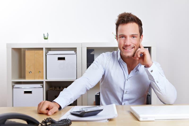企业愉快的人办公室 免版税库存照片