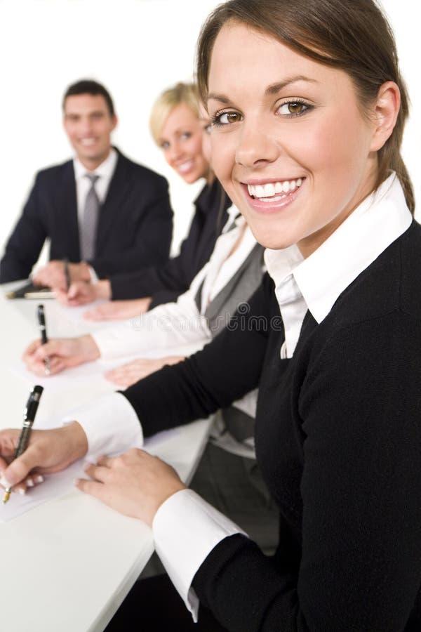 企业愉快的会议 免版税库存图片