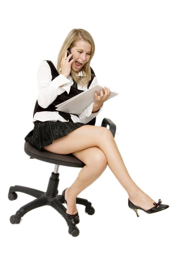 企业愉快的妇女 图库摄影