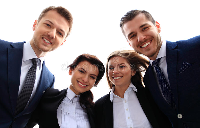 企业愉快的微笑的小组 图库摄影
