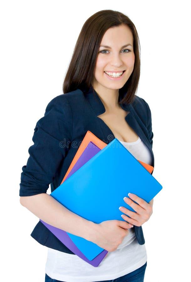 企业愉快的成功的妇女 图库摄影