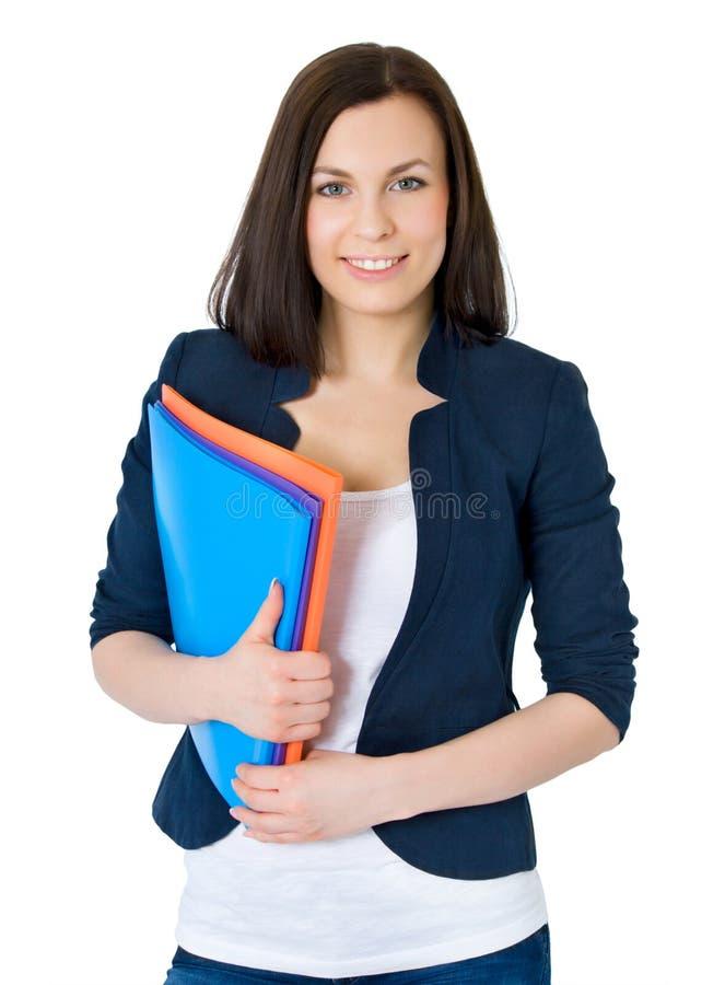 企业愉快的成功的妇女 库存图片