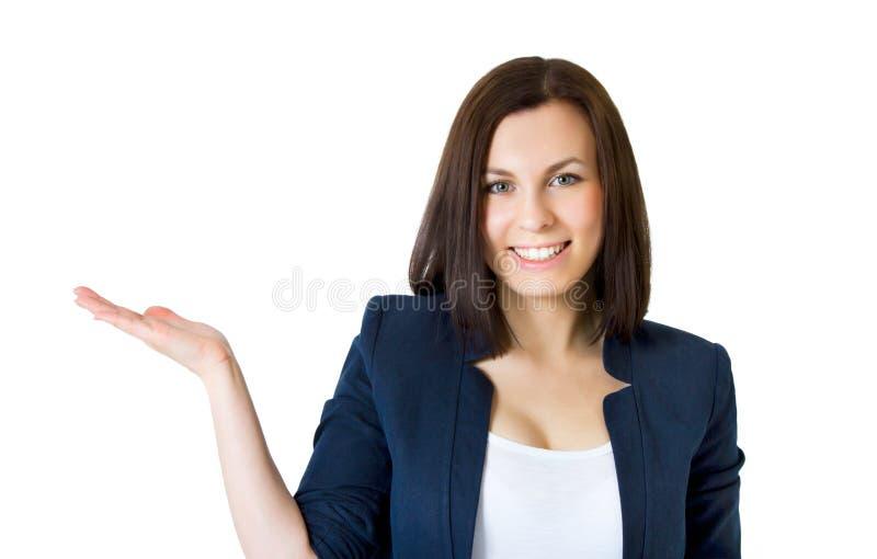 企业愉快的成功的妇女 库存照片