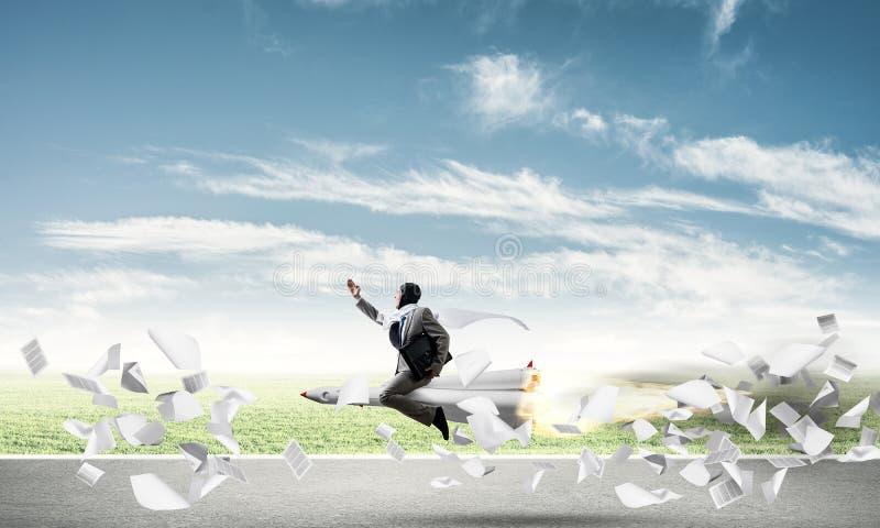 企业成功和目标成就概念 库存例证