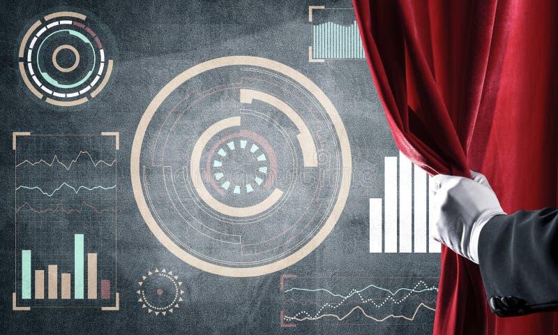 企业成功在混凝土墙上的infographs提出的战略概念 向量例证