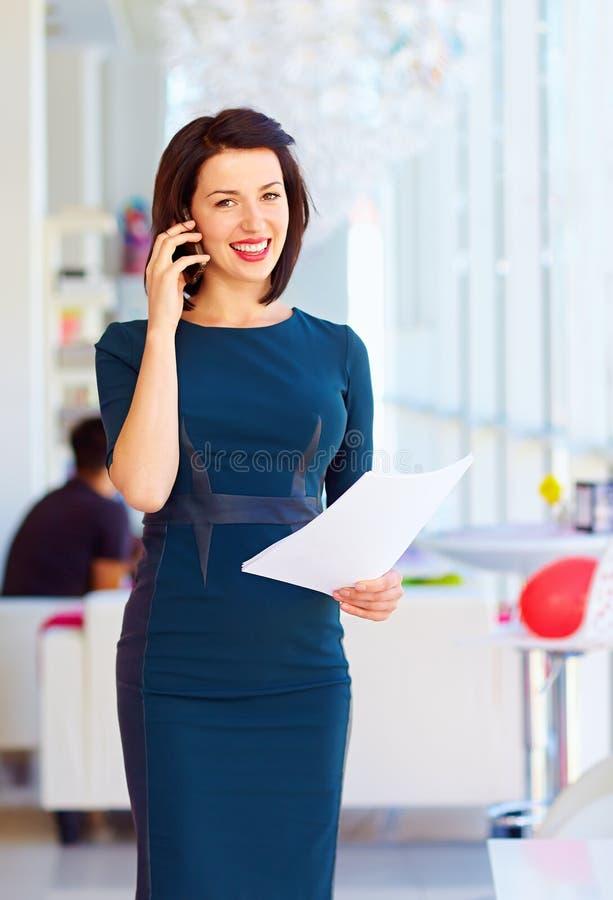 企业成功的妇女工作 库存图片