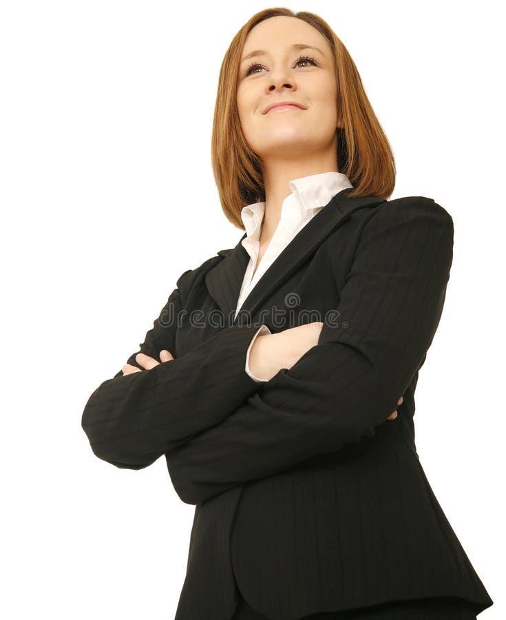 企业成功的妇女 免版税库存图片